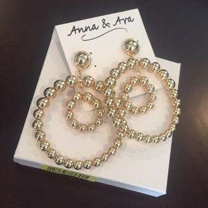 Anna & Ava double hoop earrings, pierced